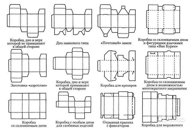 Схема коробки для капкейков