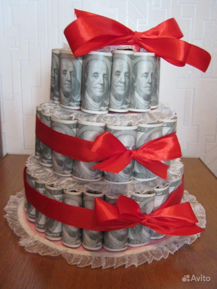 Торт из денег на свадьбу своими руками  138
