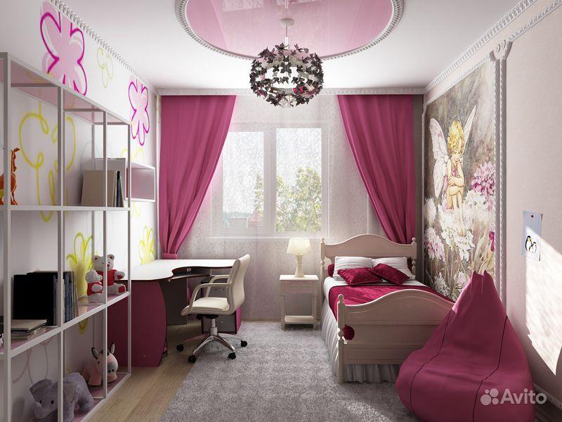 Ремонт комнаты для девочки фото