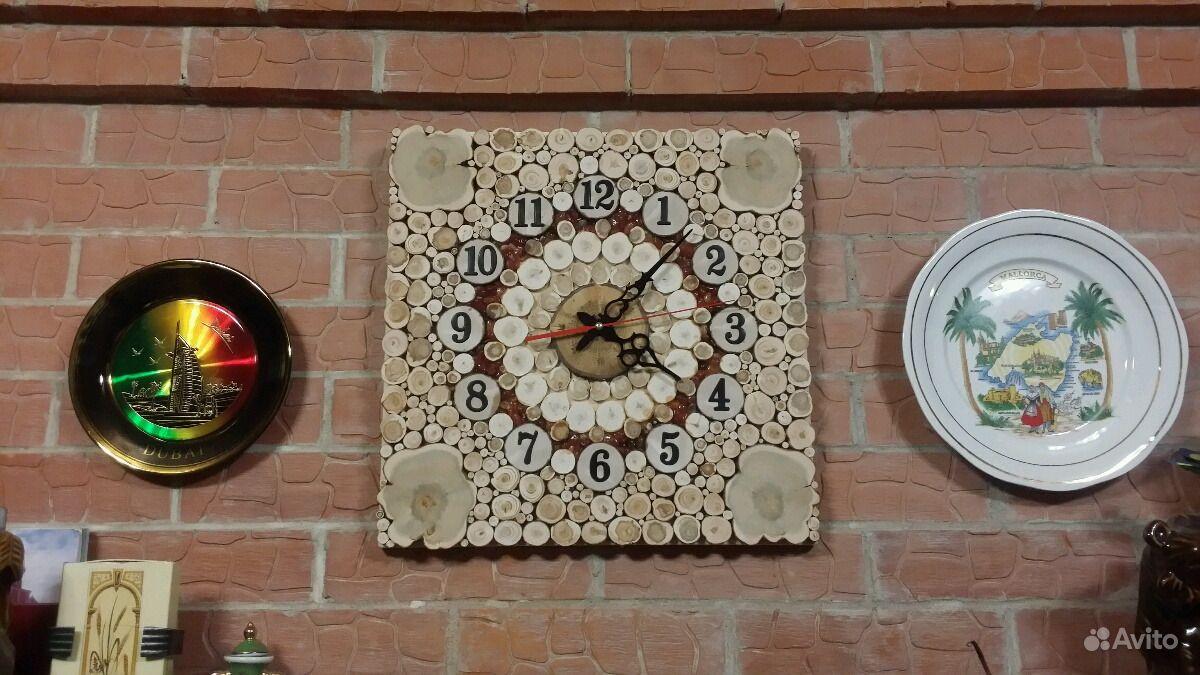 Часы настольные (каминные) из можжевельника.