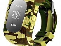 Детские часы с GPS трекером и SIM картой Хаки
