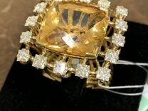 Кольцо рубин топаз и бриллианты
