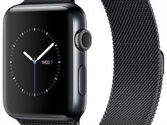 Apple Watch Series 2, 38mm Black Milanese Loop