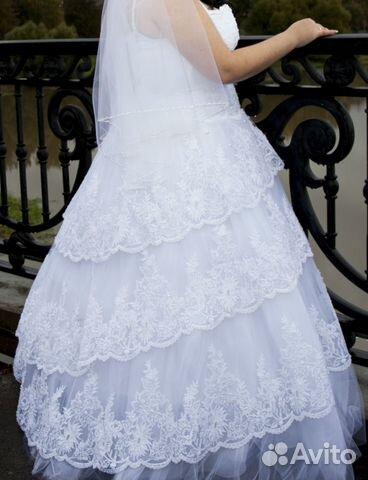 Свадебное платье 54-56 купить