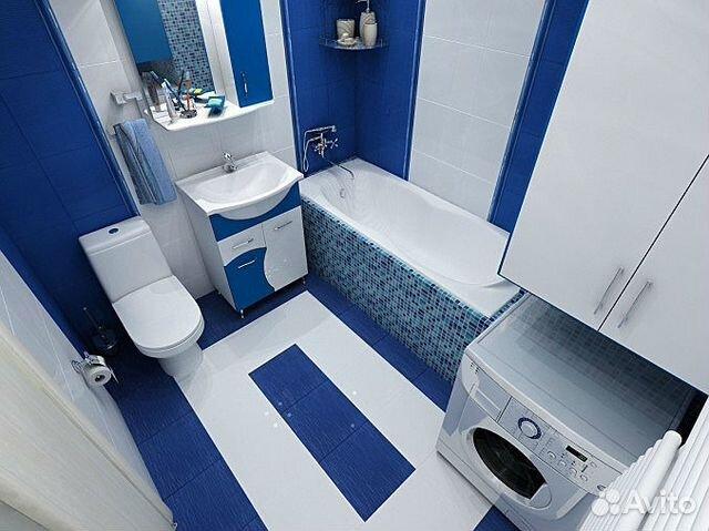 дизайн ванной комнаты в синем цвете фото