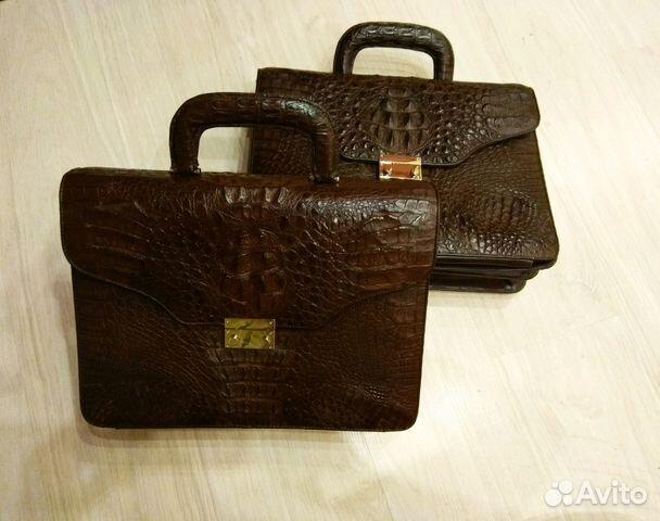 8353ac76b5a4 Портфель сумка из натуральной кожи крокодила купить в Москве на ...