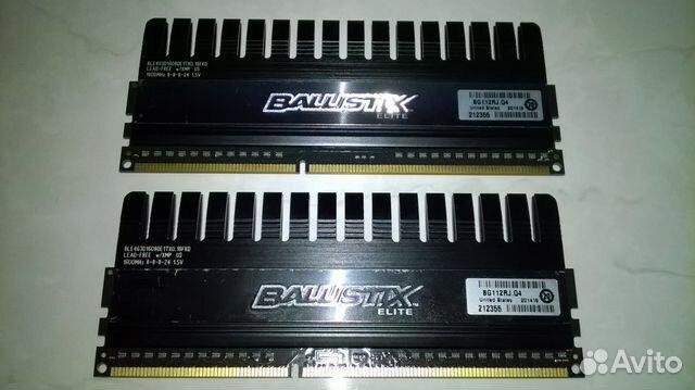 DDR3 Crucial Ballistix Elite 8GB(2x4) 1600MHz