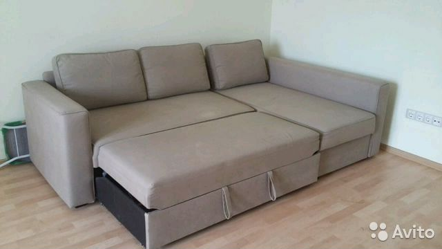 диван Ikea бежевый угловой для дома и дачи мебель и интерьер