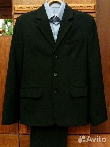 Костюм пиджак и брюки на 10-12 лет 89199759610 купить 1