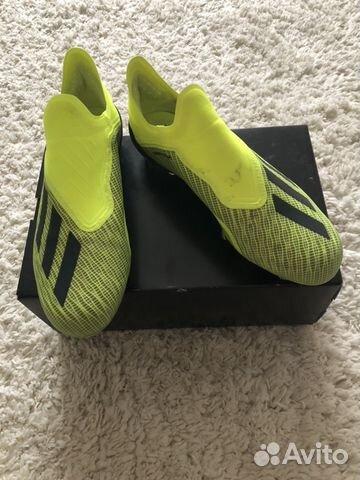 32b62712 Футбольные Бутсы Adidas X 18+ FG (Профессиональные | Festima.Ru ...