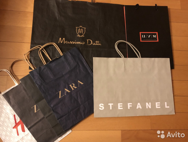 559d9517a7bc Пакеты брендов цум stefanel Massimo Dutti Zara купить в Москве на ...