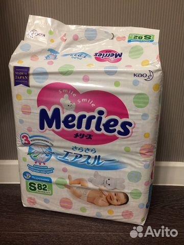 Подгузники Merries размер S новая пачка плюс 4 шту— фотография №1 10d5e558b89