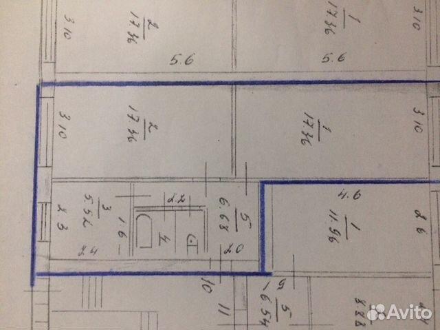 2-к квартира, 50.4 м², 1/3 эт. 89159591375 купить 4