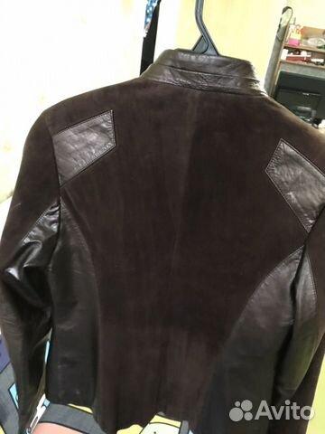 Куртка женская кожаная коричневая размер М  89156546204 купить 3