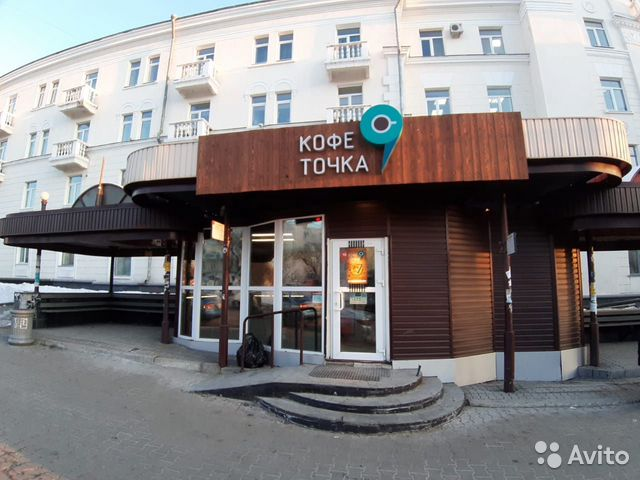 Beautiful coffee shop in the center of Lenin Square