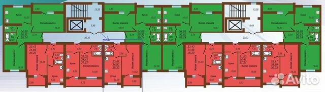 1-к квартира, 36.3 м², 8/10 эт.