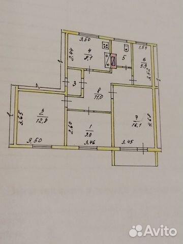 3-к квартира, 67.3 м², 2/2 эт.  89626655859 купить 1