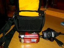 Видеокамера, сумка, карта памяти 32гб
