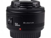 Объектив для Canon eos Yongnuo yn50mm новый