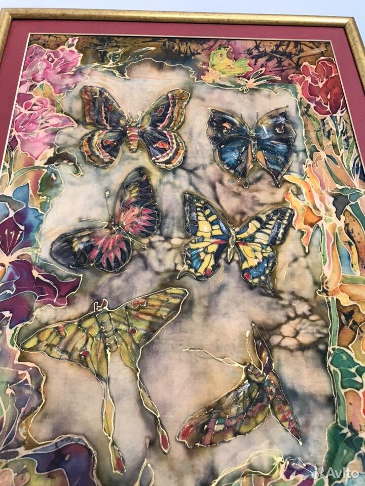 Картина-батик-бабочки 89180478771 купить 4