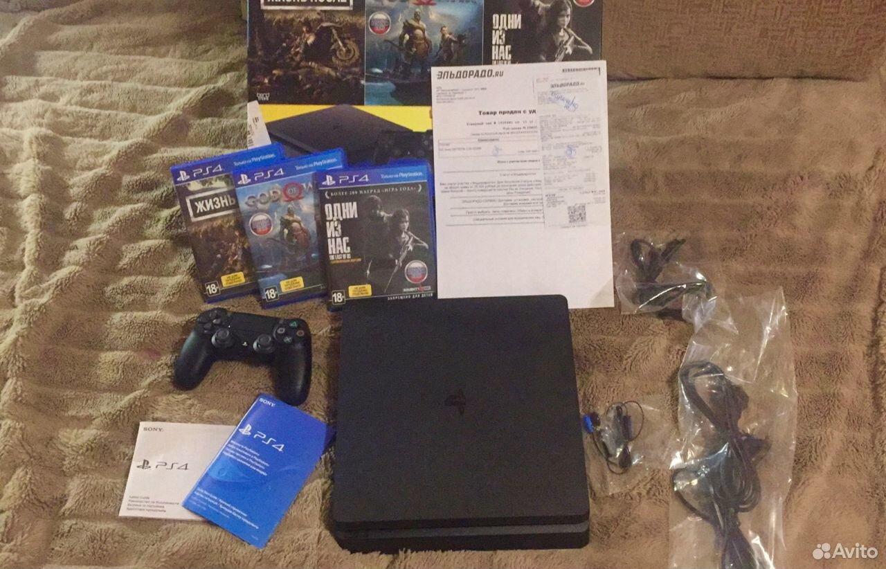 Sony PS4 Slim 1TB, новая, на гарантии + игры 89038918724 купить 1