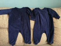 Комбинезоны и песочники для двойни baby go 62