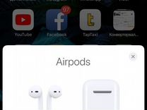 Apple AirPods с анимацией