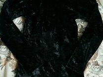 Бархатная водолазка-туника. Р. 134-146