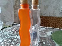 Бутылочки-вазы из стекла