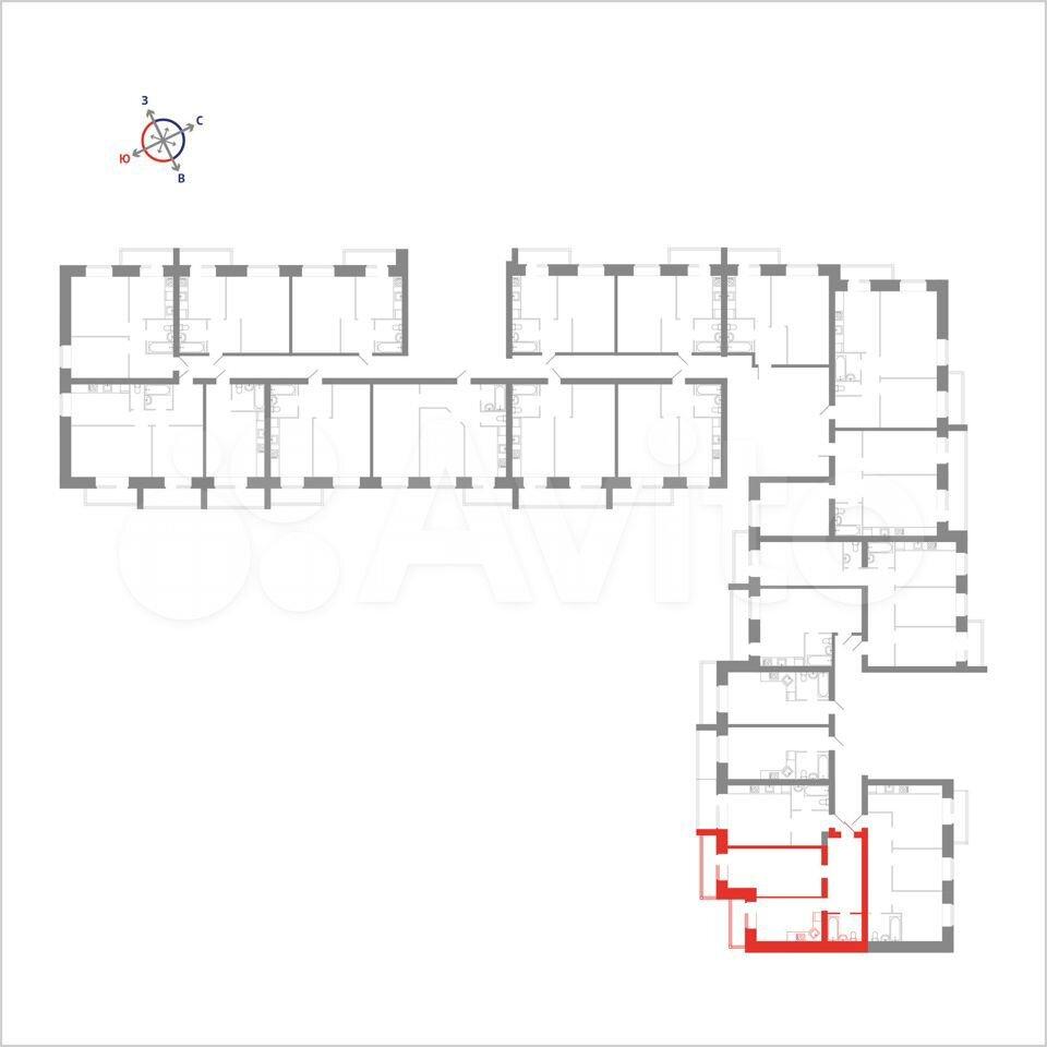 1-к квартира, 51.7 м², 11/14 эт.  89115506177 купить 4