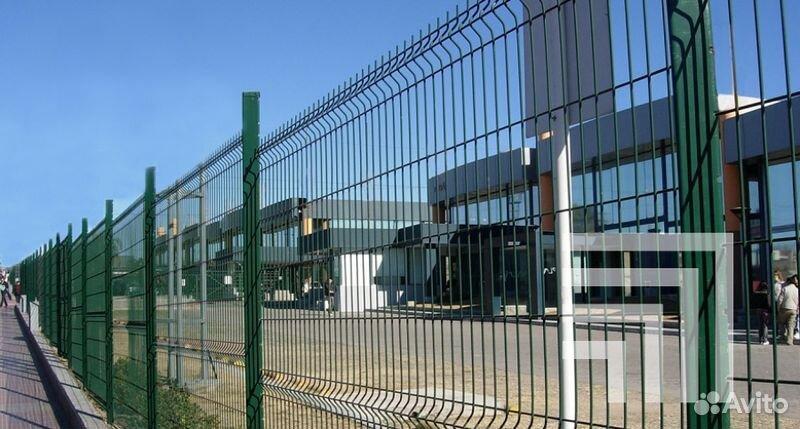 Панельный забор разной высоты 1м 1,5м 1,7м 2м (Нв)