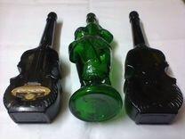Четыре старых коллекционных бутылки