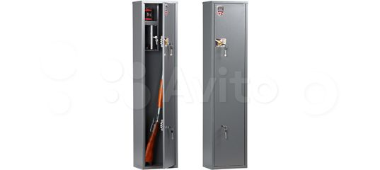 Оружейный сейф на 3 ствола (внутр. высота 1300 мм) купить в Ярославской области   Хобби и отдых   Авито