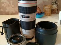 Canon EF 70-200mm f4L USM + canon extender x1.4 II